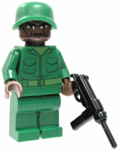 LEGO Military LOOSE Custom Mini Figure U.S. Submachine Gunner [Includes BrickArms M3 Grease Gun]