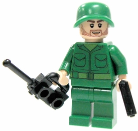 LEGO Military LOOSE Custom Mini Figure U.S. Sergeant [Includes BrickArms Pistol]