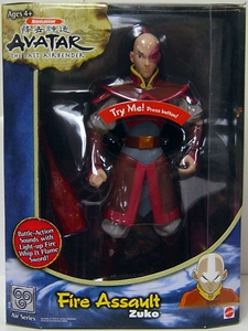 Avatar the Last Airbender 10 Inch Talking Deluxe Action Figure Flame Assault Zuko