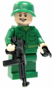 LEGO Military LOOSE Custom Mini Figure U.S. Machine Gunner [Includes BrickArms Thompson & Grenade]