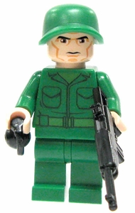 LEGO Military LOOSE Custom Mini Figure U.S. Rifleman [Includes BrickArms M1 Carbine & Grenade]