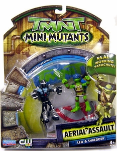 Teenage Mutant Ninja Turtles TMNT Mini Mutants Aerial Assault Leo & Shredder