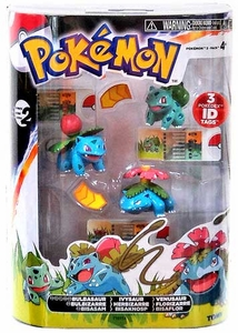 Pokemon TOMY Basic Figure Evolution 3-Pack Bulbasaur, Ivysaur & Venusaur
