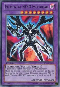 YuGiOh Star Pack 2013 Single Card SP13-EN046 Elemental HERO Escuridao