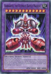YuGiOh Star Pack 2013 Single Card SP13-EN045 Barbaroid, the Ultimate Battle Machine
