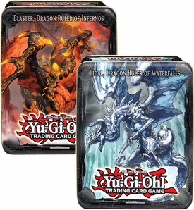 YuGiOh 2013 Set of Both Wave 1 Collector Tins [Blaster, Dragon Ruler of Inferos & Tidal, Dragon Ruler of Waterfalls]