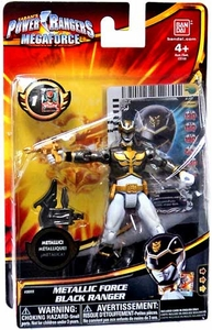 Power Rangers Megaforce Basic Action Figure Metallic Force Black Ranger