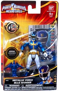 Power Rangers Megaforce Basic Action Figure Metallic Force Blue Ranger