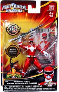 Power Rangers Megaforce Basic Action Figure Metallic Force Mighty Morphin Red Ranger