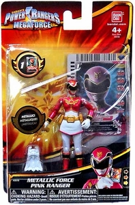 Power Rangers Megaforce Basic Action Figure Metallic Force Pink Ranger