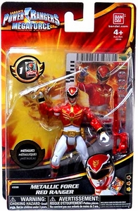 Power Rangers Megaforce Basic Action Figure Metallic Force Red Ranger