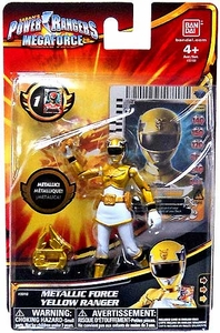 Power Rangers Megaforce Basic Action Figure Metallic Force Yellow Ranger