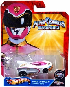 Hot Wheels Power Rangers Megaforce 1:50 Die Cast Car Pink Ranger Phoenix Zord