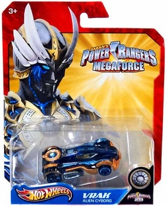 Hot Wheels Power Rangers Megaforce 1:50 Die Cast Car Vrak Alien Cyborg