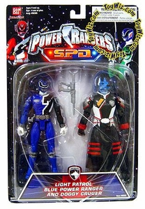 Power Rangers SPD Light Patrol Action Figure 2-Pack Blue Ranger & Doggy Cruger