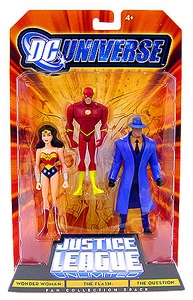 DC Universe Justice League Unlimited Action Figure 3-Pack Wonder Woman, Flash & The Question