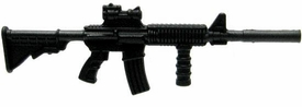 GI Joe 3 3/4 Inch LOOSE Action Figure Accessory Black M4 Rifle with Foregrip & Silencer