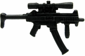 GI Joe 3 3/4 Inch LOOSE Action Figure Accessory Black MP5 with Rifle Sight & Extended Magazine