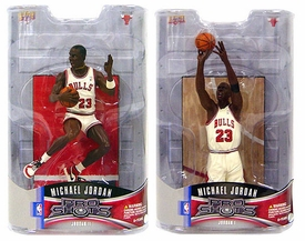 Upper Deck Pro Shots Set of Both Series 1 Michael Jordan Action Figures [1998 Last Shot & 1985 Slam Dunk Contest]