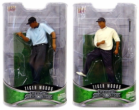 Upper Deck Pro Shots Set of Both Series 1 Tiger Woods Action Figures