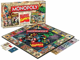 Monopoly Board Game Set Marvel Comics Collector's Edition
