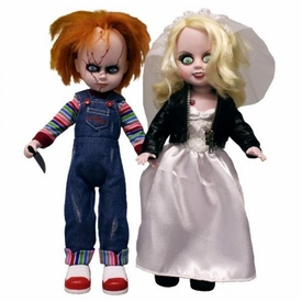 Mezco Toyz Living Dead Dolls Child's Play Set Chucky & Tiffany Pre-Order ships August