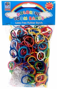 Colorful Loom Bands 600 RAINBOW Rubber Bands with Hook Tool & 'S' Clips