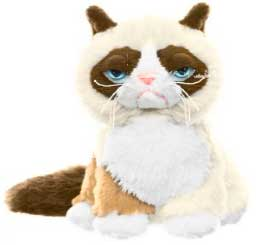 Grumpy Cat Ganz 5 Inch Plush Grumpy Cat [Sitting Up!] Pre-Order ships August