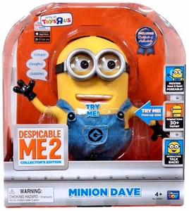 Despicable Me 2 Exclusive DELUXE 9 Inch Talking Interactive Figure Minion Dave