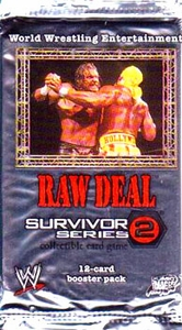 WWE Raw Deal Card Game Survivor Series 2 Booster Pack