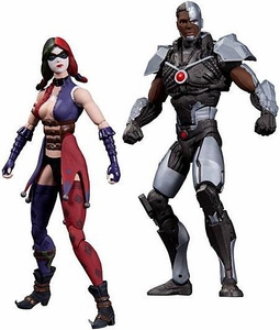 DC Injustice: Gods Among Us 3.75 Inch Action Figure 2-Pack Harley Quinn & Cyborg Pre-Order ships March
