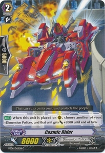 Cardfight Vanguard ENGLISH Blue Storm Armada Single Card Common BT08-045 Cosmic Rider