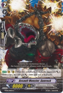 Cardfight Vanguard ENGLISH Blue Storm Armada Single Card Common BT08-046 Assault Monster, Gunrock