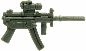 GI Joe 3 3/4 Inch LOOSE Action Figure Accessory Olive Green MP5 with Removable Silencer