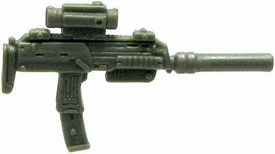 GI Joe 3 3/4 Inch LOOSE Action Figure Accessory Olive Green Silenced Uzi