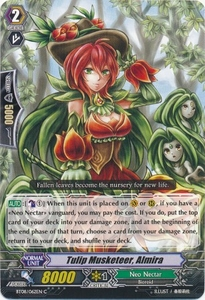 Cardfight Vanguard ENGLISH Blue Storm Armada Single Card Common BT08-062 Tulip Musketeer, Almira