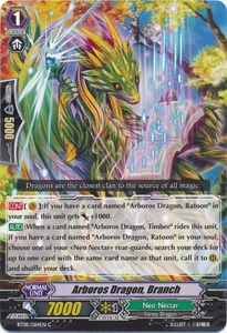 Cardfight Vanguard ENGLISH Blue Storm Armada Single Card Common BT08-064 Arboros Dragon, Branch
