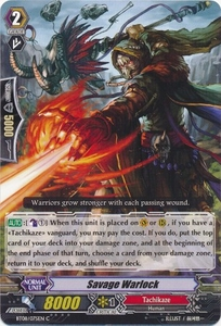 Cardfight Vanguard ENGLISH Blue Storm Armada Single Card Common BT08-075 Savage Warlock