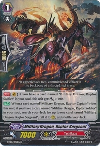 Cardfight Vanguard ENGLISH Blue Storm Armada Single Card Common BT08-077 Military Dragon, Raptor Sergeant
