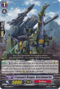 Cardfight Vanguard ENGLISH Blue Storm Armada Single Card Common BT08-080 Supply Dragon, Brachioporter