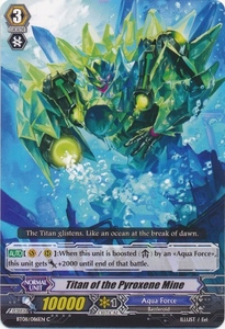 Cardfight Vanguard ENGLISH Blue Storm Armada Single Card Common BT08-086 Titan of the Pyroxene Mine