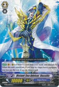 Cardfight Vanguard ENGLISH Blue Storm Armada Single Card Common BT08-087 Distant Sea Advisor, Vassilis