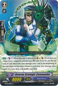 Cardfight Vanguard ENGLISH Blue Storm Armada Single Card Common BT08-088 Veteran Strategic Commander