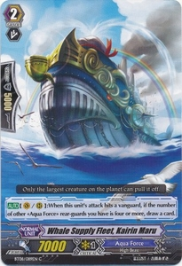 Cardfight Vanguard ENGLISH Blue Storm Armada Single Card Common BT08-089 Whale Supply Fleet, Kairin Maru