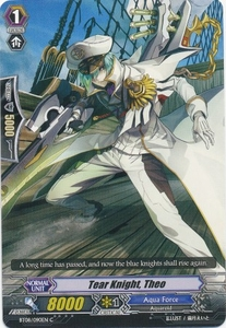 Cardfight Vanguard ENGLISH Blue Storm Armada Single Card Common BT08-090 Tear Knight, Theo