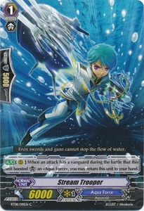Cardfight Vanguard ENGLISH Blue Storm Armada Single Card Common BT08-091 Stream Trooper