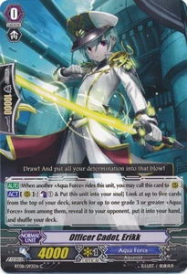 Cardfight Vanguard ENGLISH Blue Storm Armada Single Card Common BT08-093 Officer Cadet, Erikk