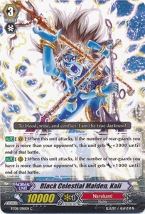Cardfight Vanguard ENGLISH Blue Storm Armada Single Card Common BT08-096 Black Celestial Maiden, Kali