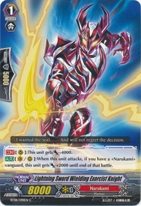 Cardfight Vanguard ENGLISH Blue Storm Armada Single Card Common BT08-098 Lightning Sword Wielding Exorcist Knight