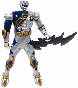 Power Rangers Wild Force LOOSE Action Figure Silver Lunar Wolf [With Flip Head Action]
